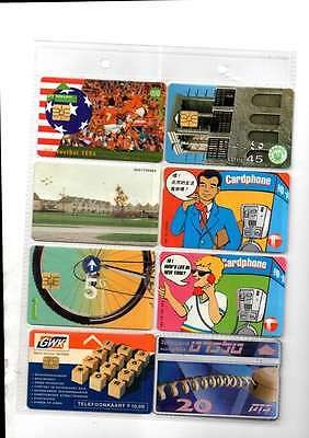 Job Lot Of 200 Overseas Phone Cards In Excellent Condition