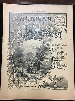 Vintage Magazines - Lot of Four -  American Agriculturist 1887