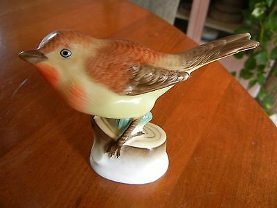 Herend Hungarian Porcelain Bird Figurine, Hand Painted, Signed By Artist, Marked
