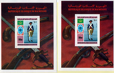 Mauritania Stamps. 1976. MR533. MNH. 2 miniheets. Perforated and Unperforated