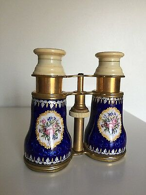 PAIR OF ANTIQUE 19th CENTURY FRENCH ENAMEL OPERA GLASSES