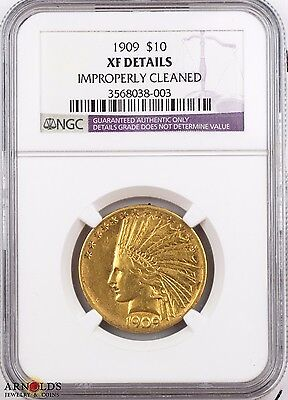 1909 Indian Head $10 Gold Eagle XF NGC Certified