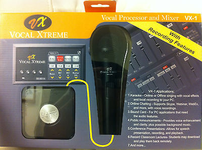 Personal audio studio mixer Karaoke player/recording Skype recording w/MIC