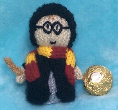 KNITTING PATTERN - Harry Potter inspired choc cover favour fits ferrero rocher