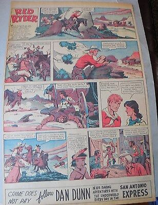 Red Ryder Sunday Page #2 by Fred Harman from 11/13/1938 Large Full Size Page!
