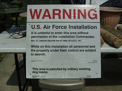 Air Force sign