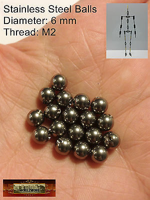 M01333 MOREZMORE HPA 18 Threaded 6 mm Stainless Steel Balls M2 Hole Thread A60
