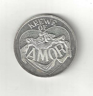 1971 Amor Flinstones Mickey Mouse 999 Fine Silver Mardi Gras Doubloon Coin Medal