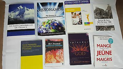 Lot 10 books assorted. (Paperback and DVD)