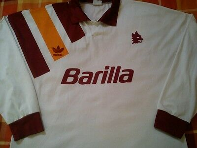 EXTREMELY RARE Adidas A.S. ROMA Away 1993 / 1994 L/S Football Shirt - XL *VGC**