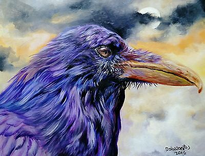 "NIGHT CREATURE 16x20"" oil on canvas original painting  BEAUTIFUL!"