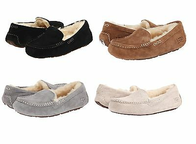 UGG Australia Women's Ansley Slippers Black Chestnut Grey Suede Casual shoes