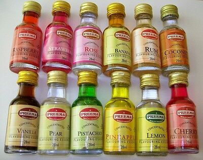 Preema Food Flavouring Essence 28ml bottle Halal 29 Differnt Flavours