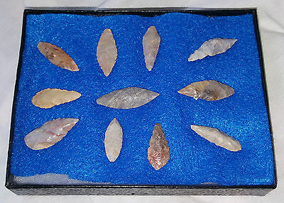 Native American Arrow Spear Head Stone Rock Head Set Collection Early Mixed Lot
