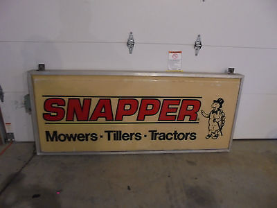 Snapper Double Sided Mower  Tiller  Tractors Sign