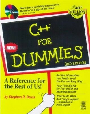 C++ For Dummies, Davis, Stephen R. Mixed media product Book The Cheap Fast Free