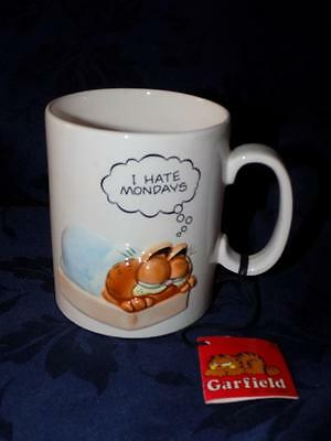"Vintage 1978 Jim Davis GARFIELD  Mug ""I HATE MONDAYS""-w tag"