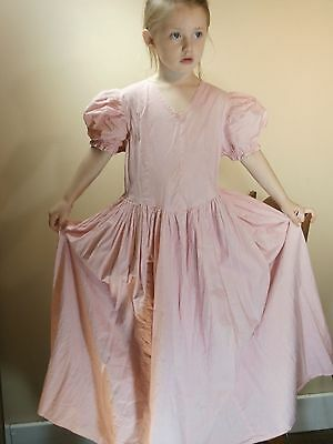 Women Child Youth Girl VINTAGE Clothing Dress 4-6 Year Old Gown Pink Prairie USA