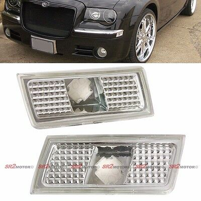 Front Bumper Clear Side Signal Marker Light Lamp Fits 04-10 Chryselr 300 300C