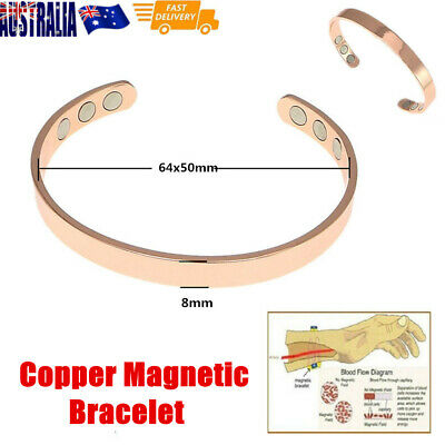 Unisex Bio Healing Copper Magnetic Therapy Bracelet Arthritis Pain Relief New
