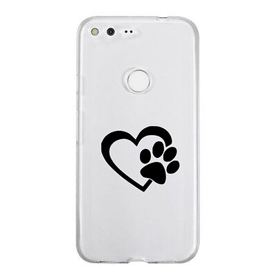 Heart love Dogs Paw Sticker Die Cut Decal mobile cell phone Smartphone Decor Pet