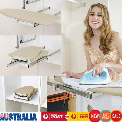 Foldable Pull Out Ironing Board Slide Out Swivel Sytle for Wardrobe Drawer