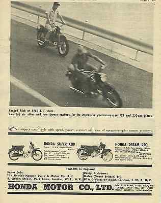 One Only! Rare 1960 V Early Honda Dream 250 & 50 Cub Ad/poster