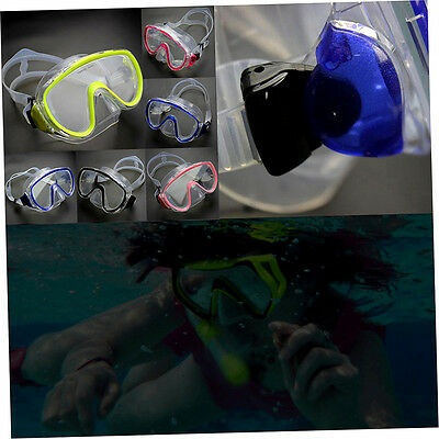 Adults Diving Goggles Tempered Glass Lens Swimming Adjust Mask Clip No Tube F2