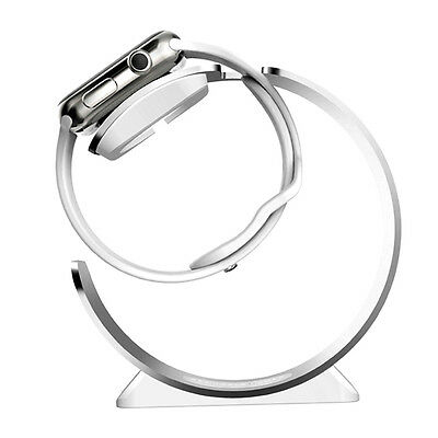 Aluminum Curve Streamlined Charging Dock Holder Stand For Apple Watch R4