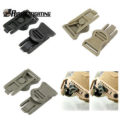 1pair FAST Helmet motorcycle helmet Goggle Swivel Clips Airsoft Tactical