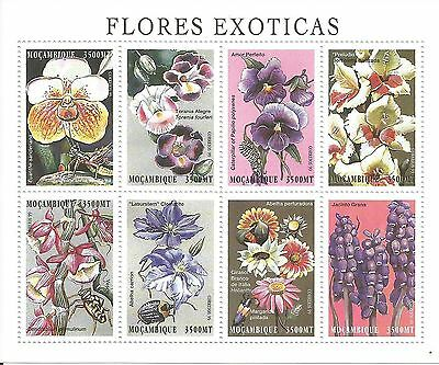 Mozambique Orchids Flowers Insects Mini Sheet Mint 2 s