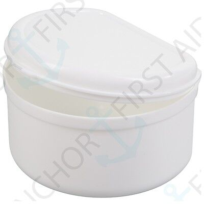 DEEP DENTURE BATH QUALITY Rinsing Box Lid Cleaning Tray Orthodontic Care/Clean