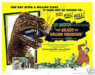 The Beast Of Hollow Mountain Lobby Title Card Poster 1956 Guy Madison Dinosaur