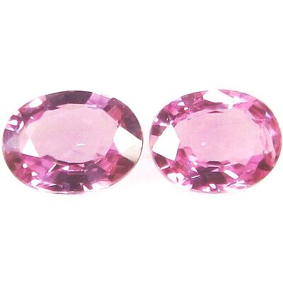 NATURAL PRETTY PINK SAPPHIRE LOOSE GEMSTONES (2 pieces) OVAL SHAPE