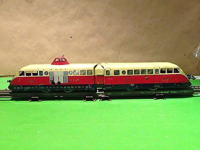 Vintage French Hornby O 20v 3 rail ETAT Articulated Diesel Railcar - Tested