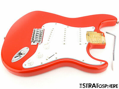 LOADED Fender Squier Affinity Stratocaster Strat BODY Guitar Parts Race Red