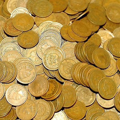Indian Head Penny Hoard! Old Lot Of 300 Quality Pennies Make Cent Pay Wholesale!