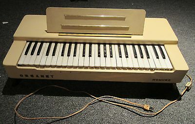 1950 s Hohner Organet organ old cool RARE white color working