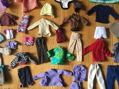 Huge lot Vintage/New/Mod Barbie & Ken Clothes, Some Handmade/Knit/Sewn