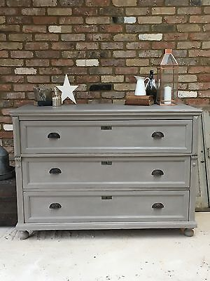 Vintage French Hand Painted Large Chest Of Drawers