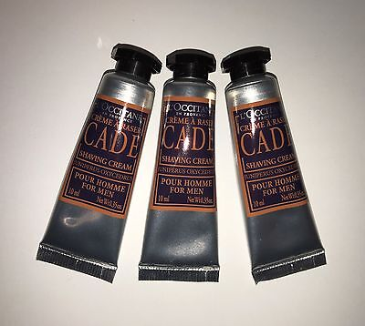L'OCCITANE CADE SHAVING CREAM FOR MEN 3 x 10ML TRAVEL SIZE