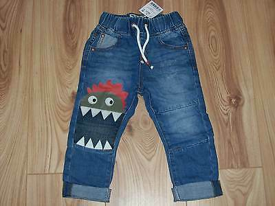 NEW BOYS NEXT JEANS 1.5-2 YEARS, Monster Dinosaur applique jeans 18-24 months