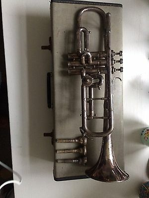 Beautiful Vintage Hawkes & Son Clippertone Trumpet Pro - With Case
