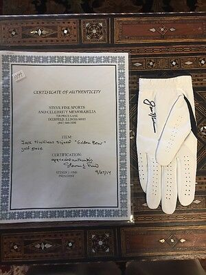 Jack Nicklaus Signed Golf Glove  Beautiful Coa  100% Authentic