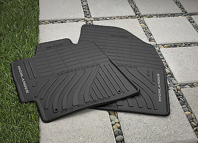 Toyota Highlander 2008 - 2013 Hybrid All Weather Rubber Floor Mat Set - OEM NEW!