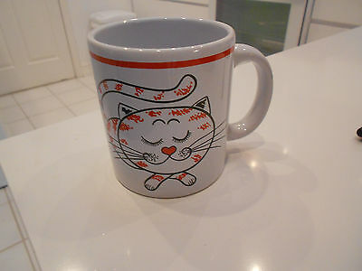 "Vintage Cat Mug-Waechtersbach/germany- Very Good-3 3/4"" High"