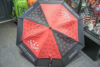 Scotty Cameron brand new Museum & Gallery M&G 7 Point Crown red & black umbrella