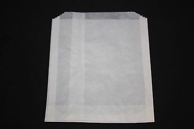 Waxed Plain Paper Bag 6 x 3/4 x 6 1/2 - Pack of 100 NEW Bags FREE SHIPPING