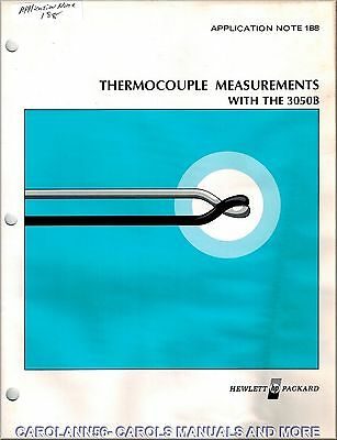HP Application Note 188 THERMOCOUPLE MEASUREMENTS WITH THE 3050B