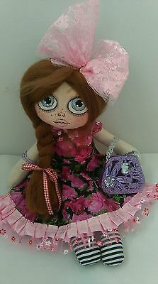 Handmade, Cloth Rag Doll, Lilly, 14 Inc, OOAK, Collectable by Bianca